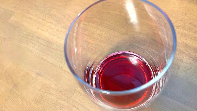 グラスに注いだ美酢を上から撮ったイメージ画像
