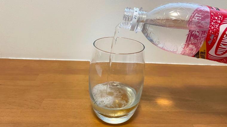 美酢エードの飲み方:美酢を炭酸水で割る2