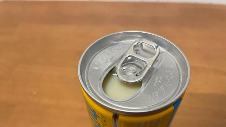 カロリーメイトヨーグルト味(リキッドタイプ)のフタを開けた画像