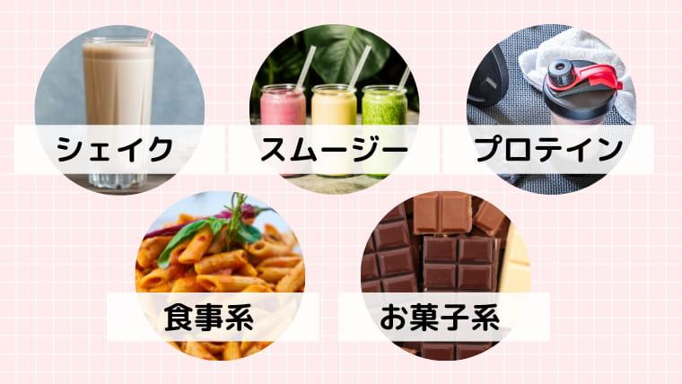 市販で買える置き換えダイエットの選ぶポイント:商品