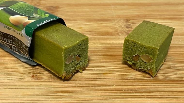 soyjoy抹茶&マカダミア味のイメージ断面