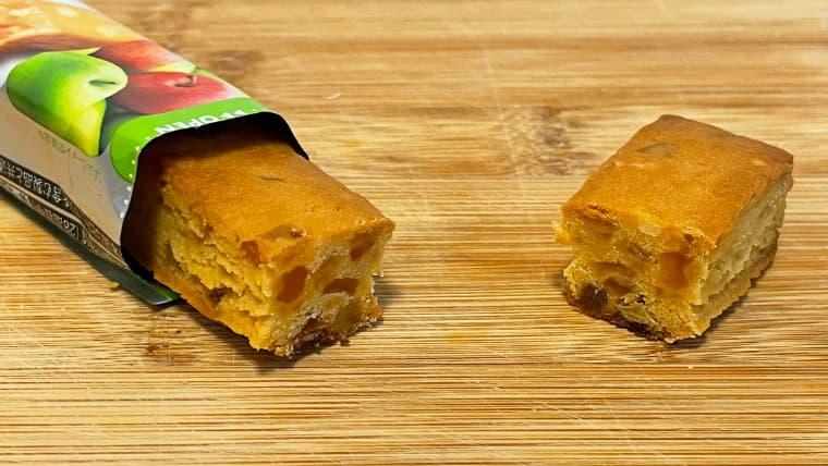 soyjoy2種のアップル味のイメージ断面