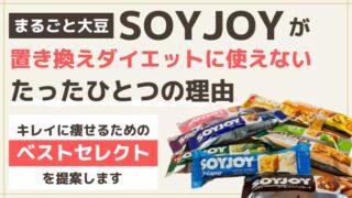 soyjoyがダイエット置き換えとして使えないたったひとつの理由